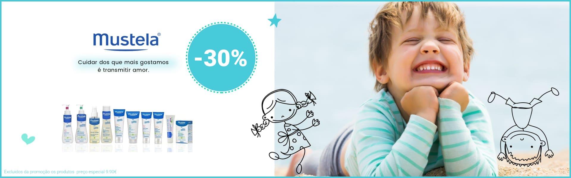 promoção produtos mustela para bebés e crianças