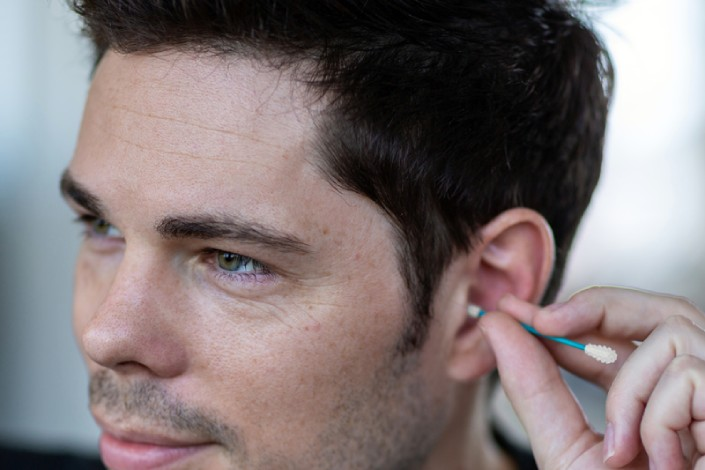 Lastswab básico cotonete para limpeza dos ouvidos reutilizável.