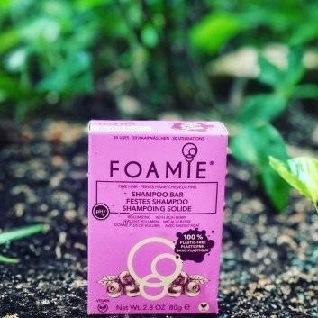 foamie para cabelos secos champô sólido cor de rosa