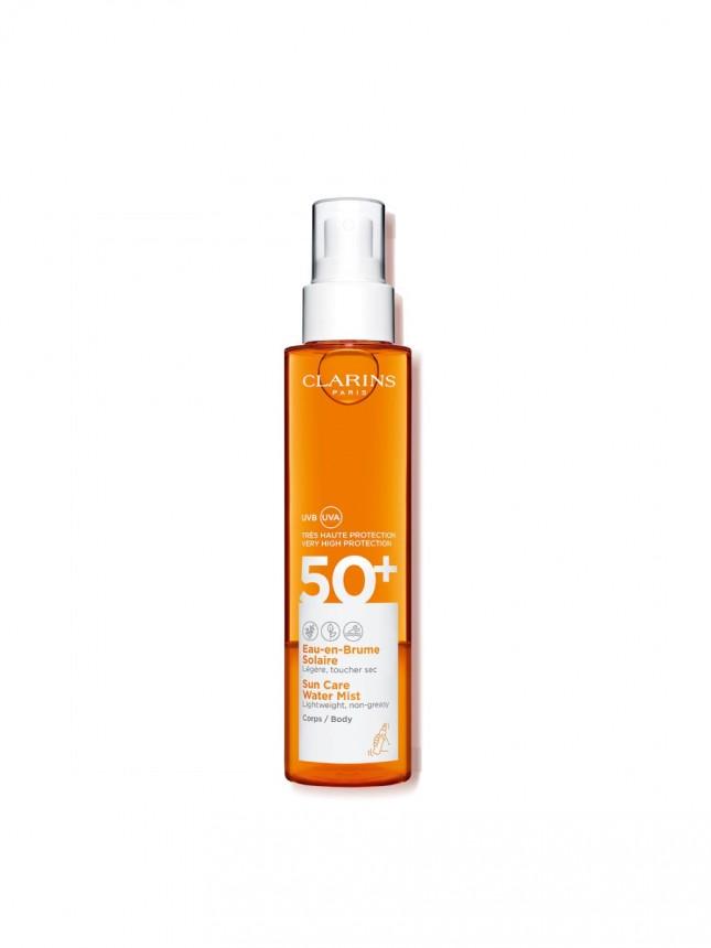 Clarins Solaire Água em Bruma Corporal com  SPF50+ 150 ml