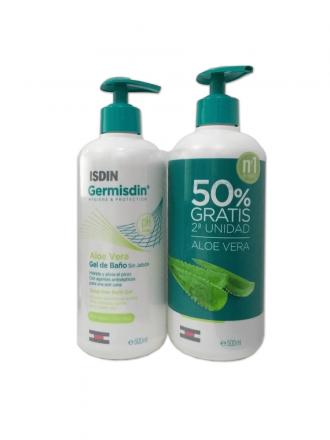 GermIsdin Aloe Vera Gel de Banho Duo 2 X 500 ml com desconto de 50% na 2ª embalagem