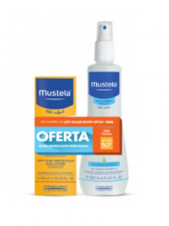 Mustela Bebé Leite solar de rosto SPF50+ 40 ml com Oferta de Água Refresca