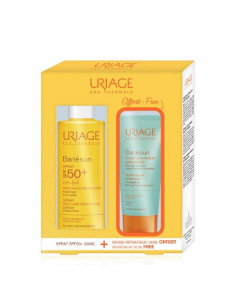 Uriage Bariésun Spray SPF 50+ c/ Oferta de Bálsamos Reparador Pós Solar 50 ml
