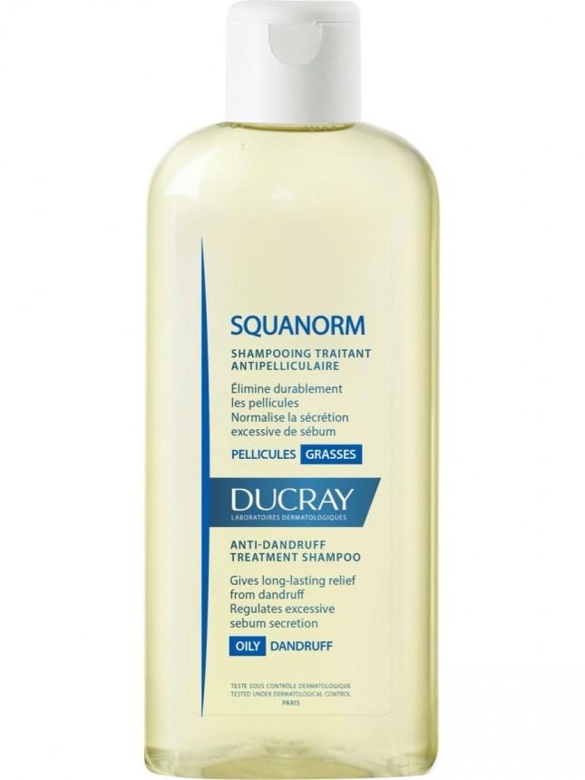 Ducray Squanorm Champô de Cuidado Anticaspa para Cabelos com Caspa Oleosa