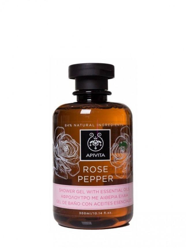 Apivita Corpo Gel de Banho Rose Pepper