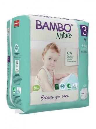 Bambo Nature Fralda 3-M 3 - 8 kg 28uni