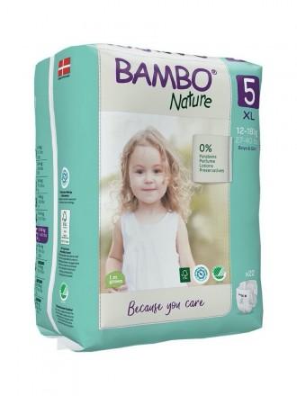 Bambo Nature Fralda 5-XL 12 - 18 kg 22uni