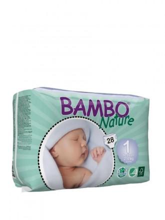 Bambo Nature Fralda T1 2 - 4 kg 28 uni