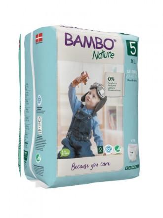 Bambo Nature Fraldas Cueca 5 (XL) 12-18 kg (19 Fraldas)