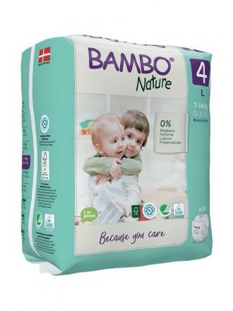Bambo Nature Fraldas 4 (L) 7-14 kg (24 Fraldas)