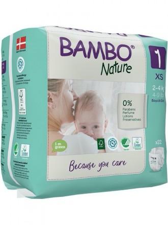 Bambo Nature Fralda 1-XS 2 - 4 kg 22uni