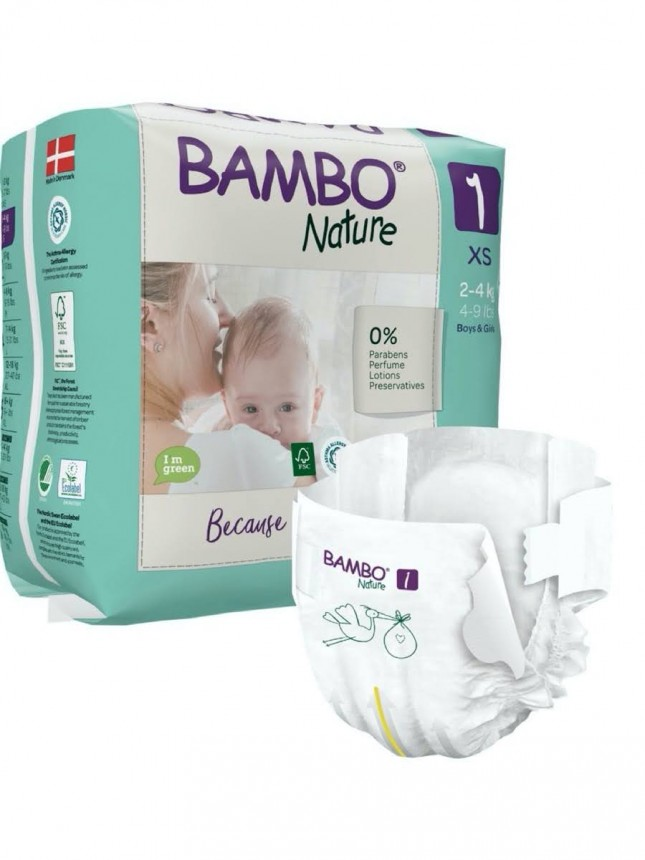 Bambo Nature Fraldas 1 (XS) 2-4 kg (22 Fraldas)