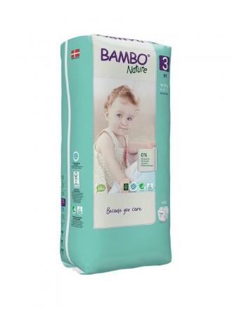 Bambo Nature Fraldas 3 (M) 4-8 kg (52 Fraldas)