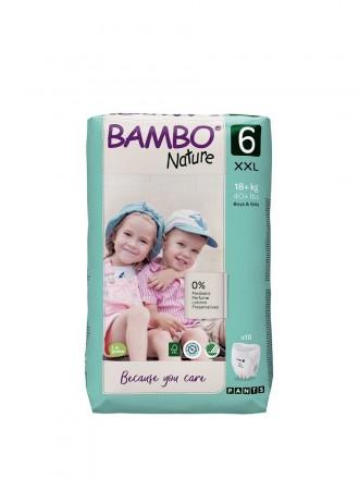 Bambo Nature Fraldas Cueca 6 (XXL) 16+ kg (18 Fraldas)
