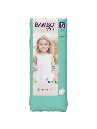 Bambo Nature Fraldas 5 (XL) 12-18 kg (44 Fraldas)