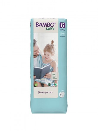 Bambo Nature Fraldas 6 (XXL) 16+ kg (40 Fraldas)