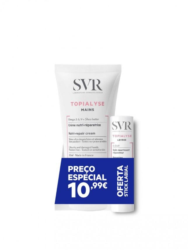 SVR Topialyse Duo Creme de Mãos com Oferta de stick labial