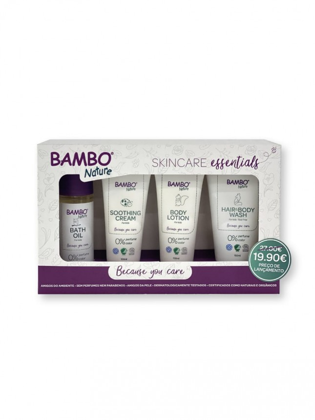 Bambo Nature Coffret de Produtos de Cuidado Corporal para Bebé