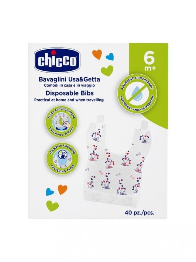 Chicco Babete descartável +6 meses (40 babetes)