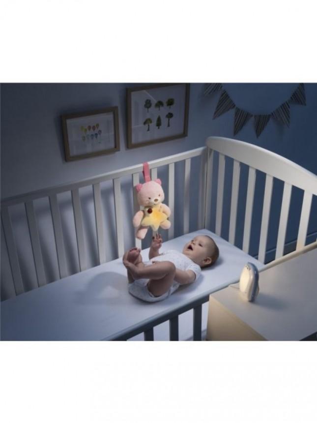 Chicco intercomunicador  First Dreams com Ursinho de Boa Noite Rosa