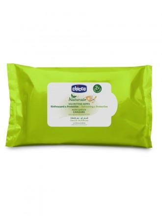 Chicco Toalhitas Antimosquito Refrescantes e Protetoras (20 toalhitas)