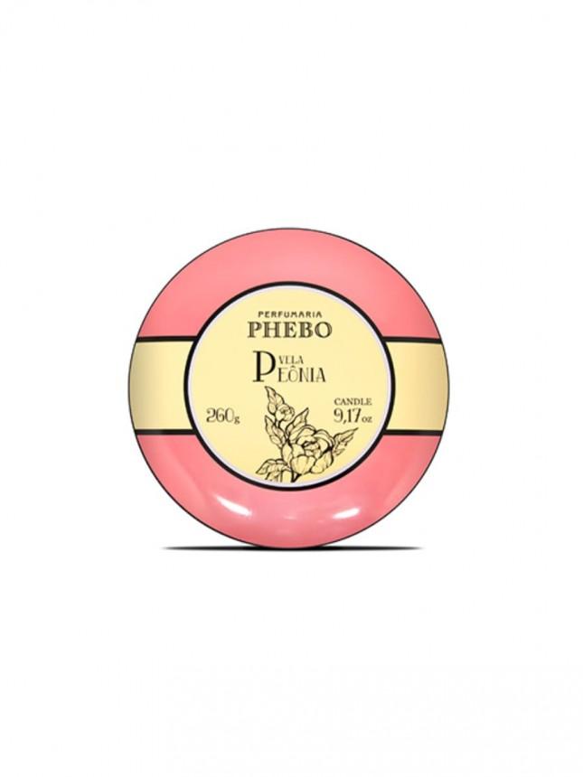 Phebo Vela Perfumada e Decorativa  Peónia 260 g