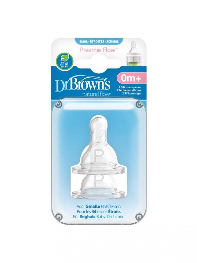 Dr Browns Options Tetina para Biberão Estreito em Silicone Prematuros (2 tetinas)