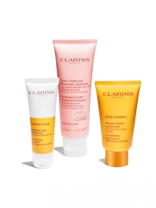 Clarins Creme Espuma de Limpeza Suave Calmante e Reconfortante 125ml