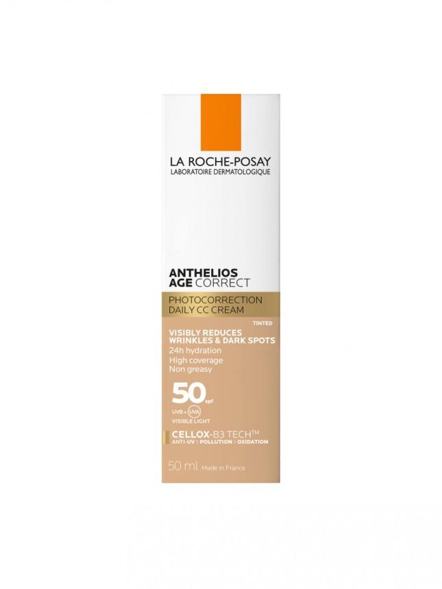 La Roche-Posay Anthelios Protetor Solar Age Correct Gel-Creme Com Cor SPF50 50 ml