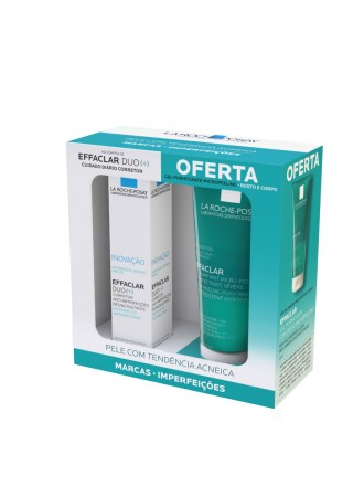 La Roche-Posay Effaclar Duo+ Creme de Rosto para Pele Oleosa 40ml com Oferta de Effaclar Gel de Lava