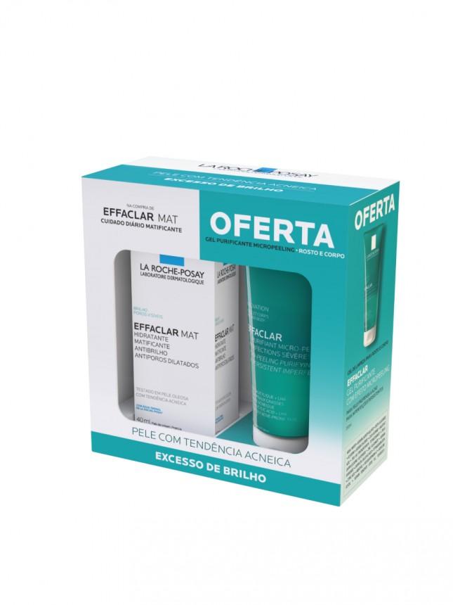 La Roche-Posay Effaclar Mat Creme de Rosto Matificante para Pele Oleosa 40 ml com Oferta de Effaclar