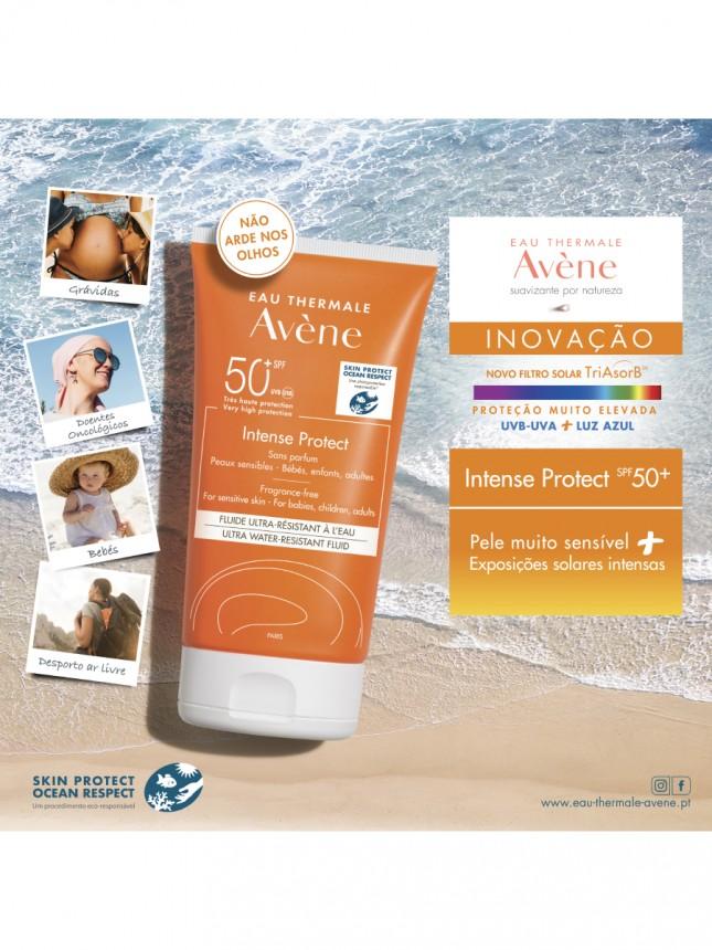 Avène Protetor Solar Intense Fluído Sem Perfume FPS50+ 150ml