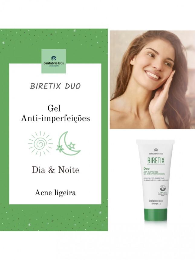 Biretix Duo Gel de Rosto Anti-Imperfeições para Pele Oleosa 30 ml
