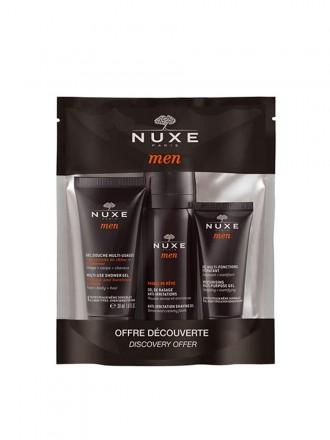 Nuxe Men Coffret Descoberta com Gel de Duche 30 ml + Gel de Barbear 15 ml + Gel Hidratante 30 ml