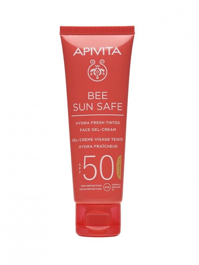 Apivita Bee Sun Safe FPS50 Hydra Fresh com Cor Protetor Solar de Rosto 50 ml