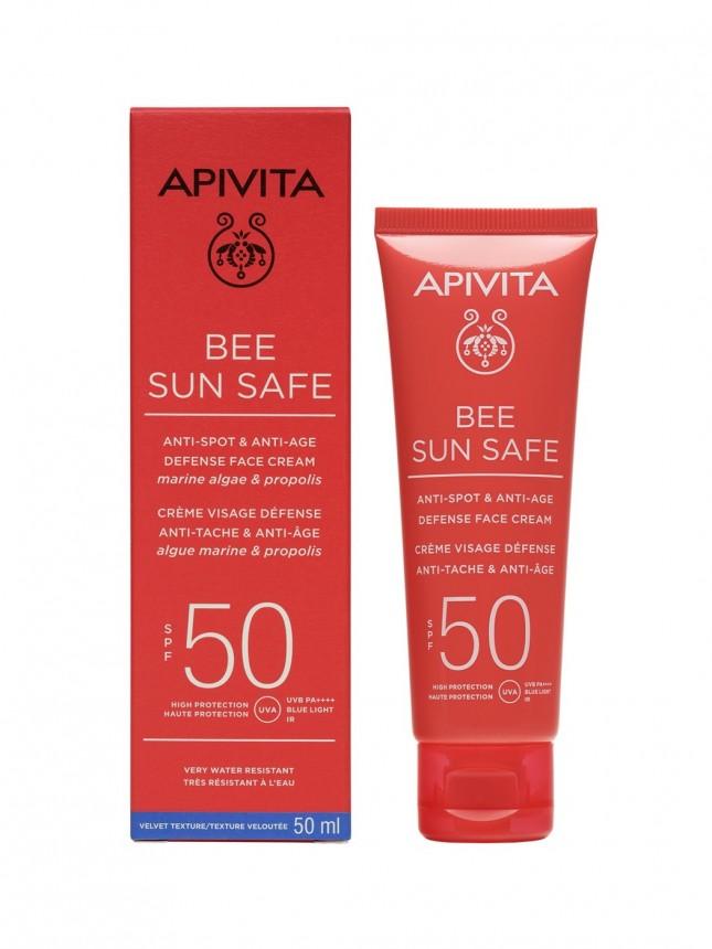 Apivita Bee Sun Safe FPS50 Protetor Solar de Rosto Antienvelhecimento 50 ml