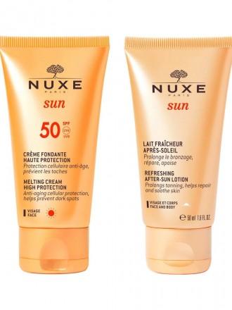 Nuxe Sun Creme de Rosto FPS50 50ml com Oferta de Pós Solar 50 ml