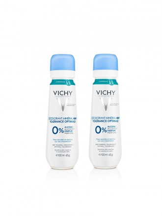 Vichy Duo Spray Desodorizante Mineral 48h Tolerância Otima 2 x 100 ml